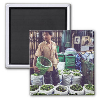 This Guy sells Limes in Thailand! Square Magnet