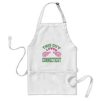 This Guys Loves Connecticut Aprons