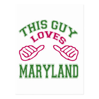 This Guys Loves Maryland Post Card