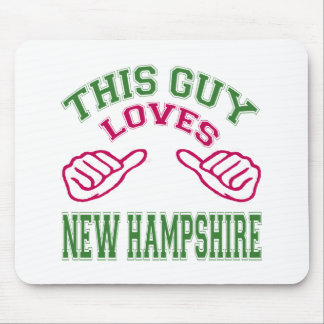 This Guys Loves New Hampshire Mouse Pad