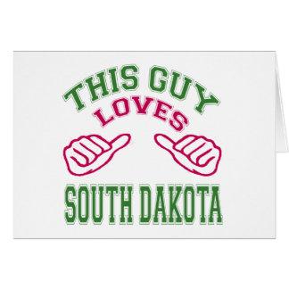 This Guys Loves South Dakota Greeting Card