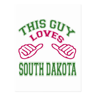 This Guys Loves South Dakota Postcard