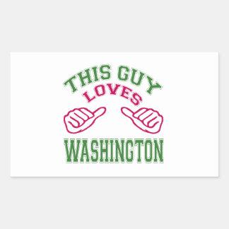 This Guys Loves Washington Rectangle Sticker