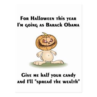 This Halloween I'm going as Barack Obama Postcard