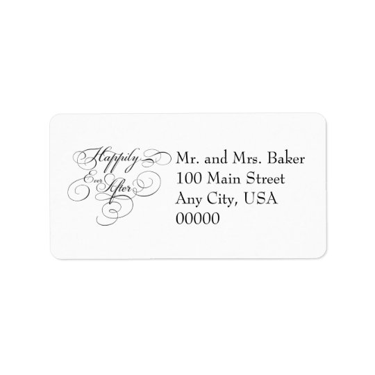 This Happliy Ever After Address Lables Address Label