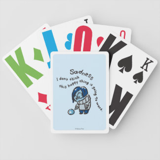 This Happy Thing Isn't Going to Work Bicycle Playing Cards