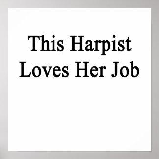 This Harpist Loves Her Job Poster