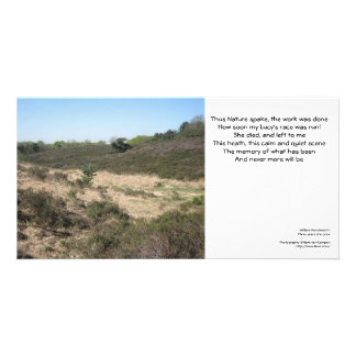 This heath, this calm and quiet scene photo card template