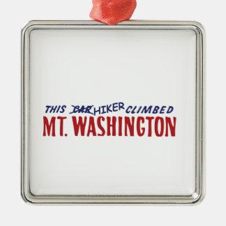 This Hiker Climbed Mt Washington , not a car Christmas Ornament