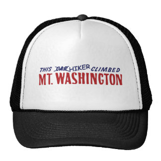 this hiker climbed mt washington shirt or bumper s trucker hat