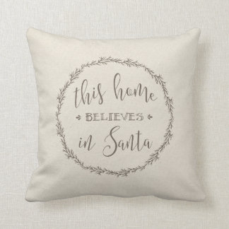 this home believes in Santa Cushion