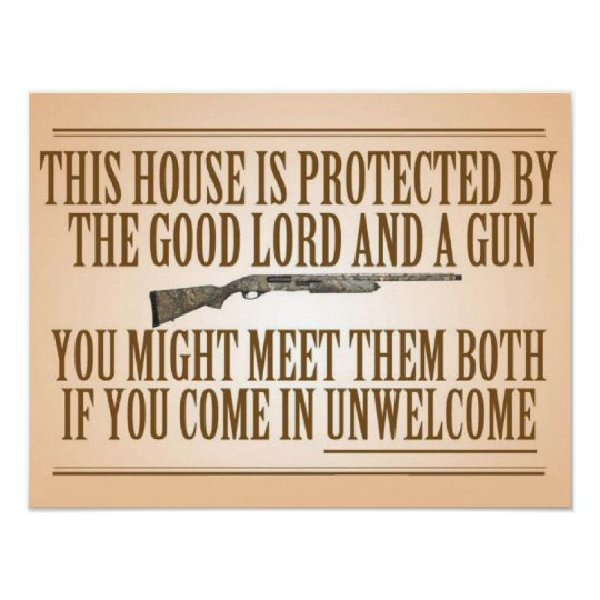 This House Is Protected By The Good Lord