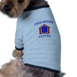 This House Votes Dog Tee Shirt