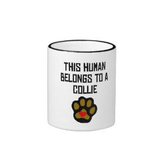 This Human Belongs To A Cocker Spaniel Coffee Mugs