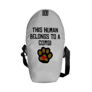 This Human Belongs To A Corgi Courier Bags