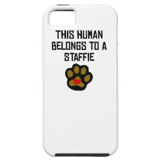 This Human Belongs To A Staffie iPhone 5/5S Covers