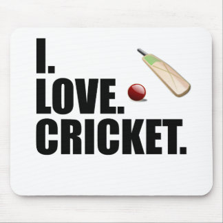This I Love Cricket design is the perfect gift for Mouse Mat
