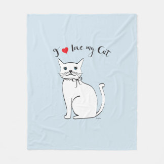 This I love my awesome Cat, Adorable Fleece Blanket