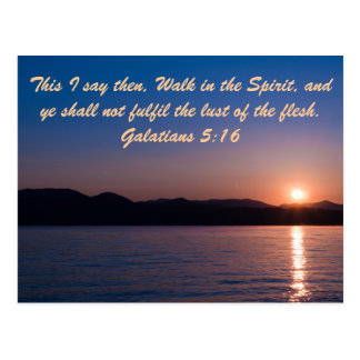 This I say then, Walk in the Spirit, and ye shall Postcard