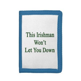 This Irishman Won't Let You Down Trifold Wallets