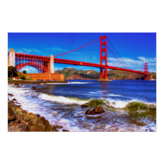 This is a 3 shot HDR image of the Golden Gate