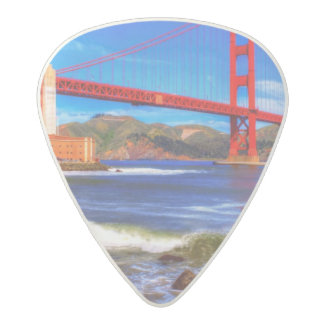 This is a 3 shot HDR image of the Golden Gate Acetal Guitar Pick