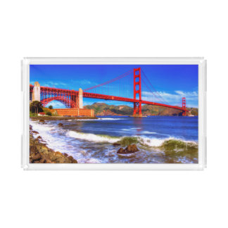 This is a 3 shot HDR image of the Golden Gate Acrylic Tray