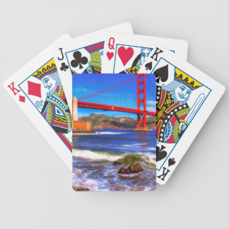 This is a 3 shot HDR image of the Golden Gate Bicycle Playing Cards