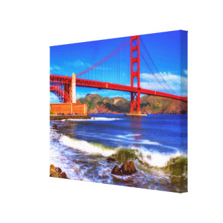 This is a 3 shot HDR image of the Golden Gate Canvas Print