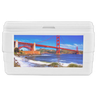 This is a 3 shot HDR image of the Golden Gate Ice Chest