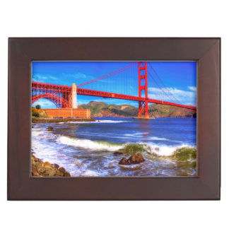 This is a 3 shot HDR image of the Golden Gate Keepsake Box