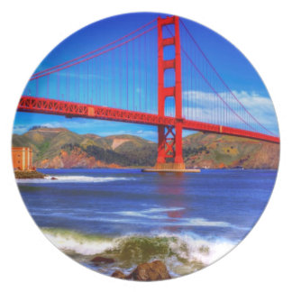 This is a 3 shot HDR image of the Golden Gate Plate
