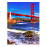 This is a 3 shot HDR image of the Golden Gate Postcard
