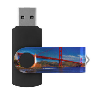 This is a 3 shot HDR image of the Golden Gate Swivel USB 2.0 Flash Drive