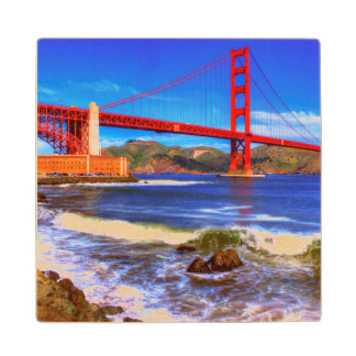 This is a 3 shot HDR image of the Golden Gate Wood Coaster