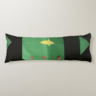 This is a Black and Green Body Pillow. Body Cushion