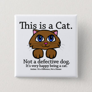 This is a Cat 15 Cm Square Badge