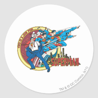 This is a job for�Superman Classic Round Sticker