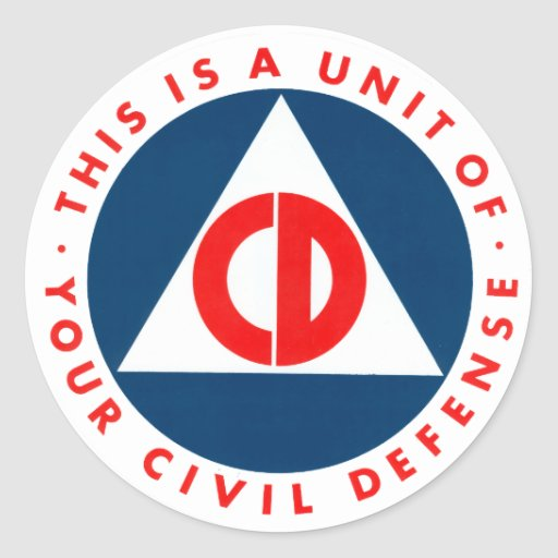 This is a Unit of Your Civil Defence Decal Round Sticker