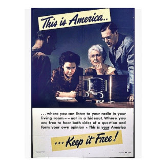 This Is America Keep It Free! 21.5 Cm X 28 Cm Flyer