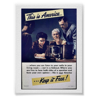 This Is America Keep It Free! Poster