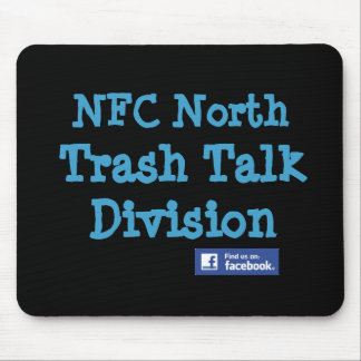 "This is an Official NFC North ""Trash Talk Division Mouse Mat"