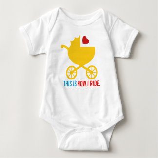 This is How I Ride Modern Baby Shower Gift Baby Bodysuit