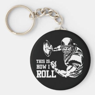 This Is How I Roll American Football Basic Round Button Key Ring