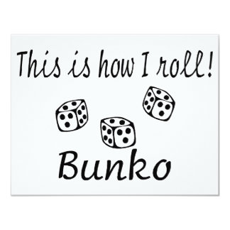 This Is How I Roll Bunko 11 Cm X 14 Cm Invitation Card