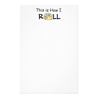This is How I Roll Cartoon Cinnamon Roll Funny Bun Stationery Paper