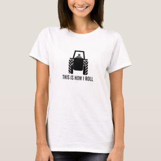 This is How I Roll Farmer on Tractor T-Shirt