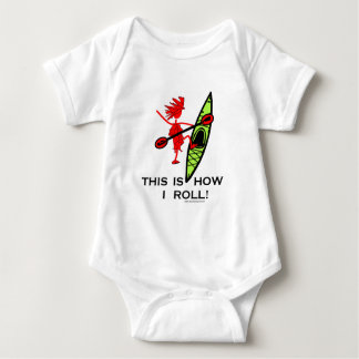 This is how I roll (Kayak) Baby Bodysuit