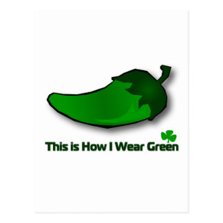 This is How I Wear Green Postcard