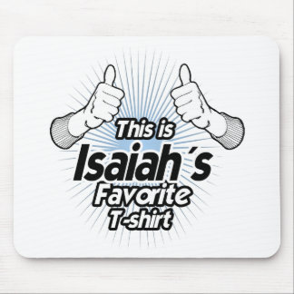 This is Isaiahs Favorite T-shirt - Mousepad